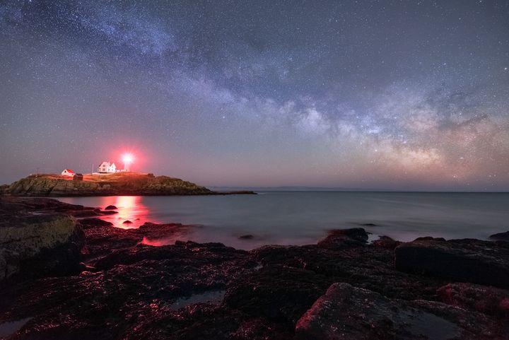 Night At Nubble Light - Jatin Thakkar Photography