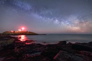 Night At Nubble Light
