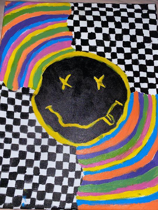 Nirvana Checkered Rainbow - Bella's Art Gallery