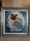 """43 x 43 framed """"Choices"""" by Vladimir"""