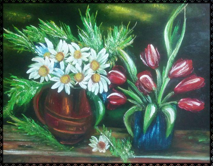 fiori e papaveri - gallery store originale dipinti