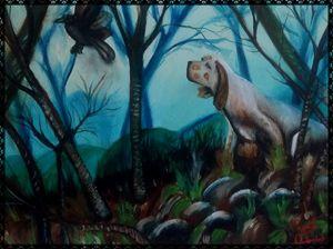 il cane cacciatore - gallery store originale dipinti