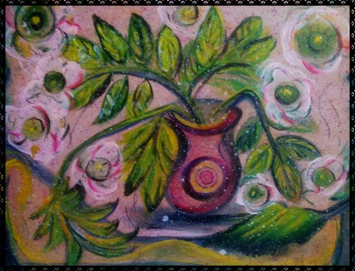 le foglie nel vaso - gallery store originale dipinti