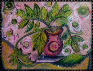 le foglie nel vaso