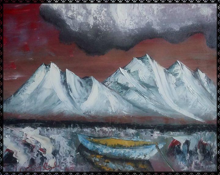 paesaggio nel mare - gallery store originale dipinti