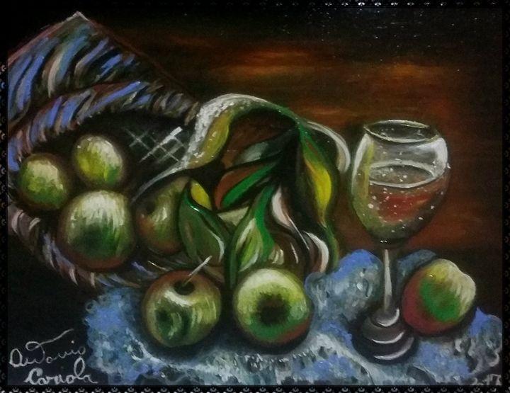 il bicchiere nella natura morta - gallery store originale dipinti