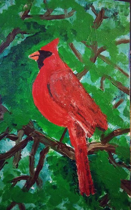 Cardinal at Peace - Patricia Field
