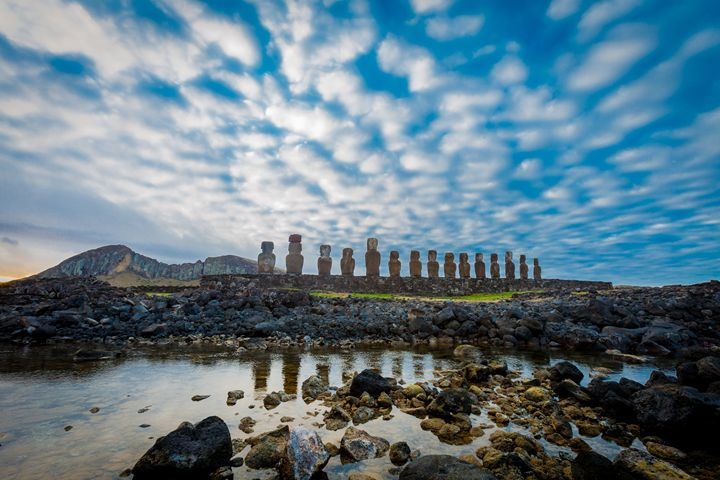 Easter Island - Tongariki view - 1 - EASTER ISLAND - FINE ART PHOTOGRAPHY