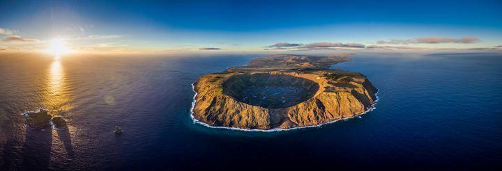 EASTER ISLAND - AERIAL SHOT 1 - EASTER ISLAND - FINE ART PHOTOGRAPHY