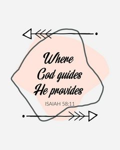 Where God guides He Provides - Paintings by Al