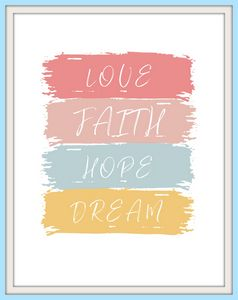 Love, Hope, Faith - Paintings by Al
