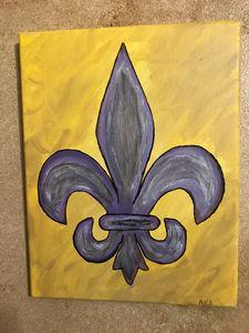 Purple and Gold Theme Fluer De Leis