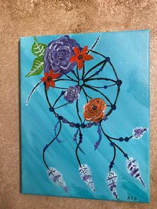 Dream Catcher acrylic painting - Paintings by Al