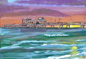 Ocean View Fishing Pier at Sunset