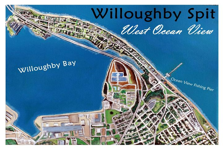 Willoughby Spit Map Labled - OV ARTist