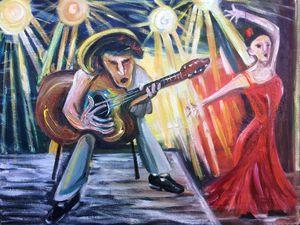 Spanish Guitar and Flamenco Dancer