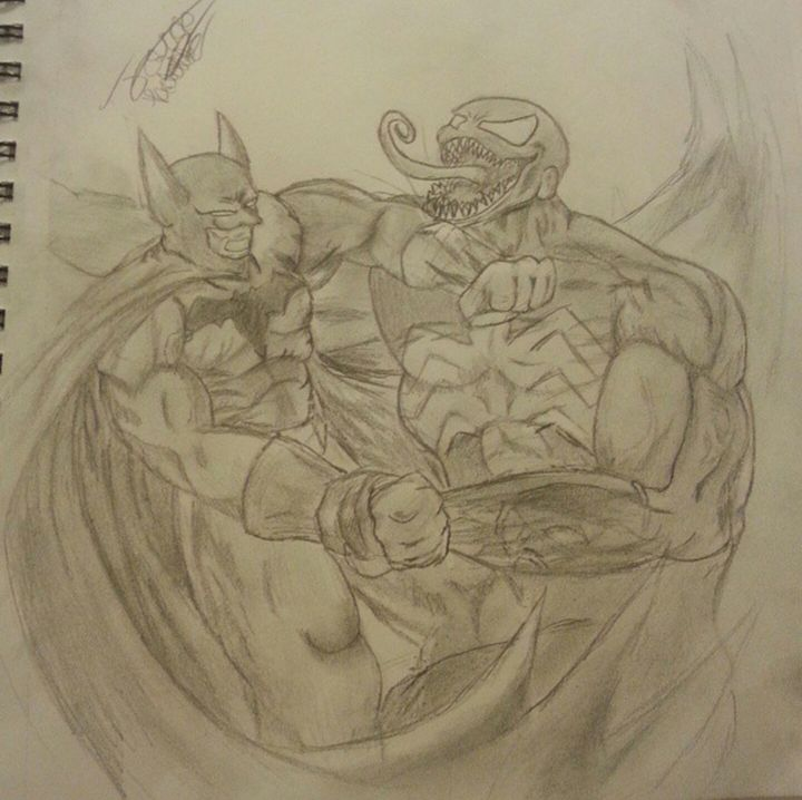 Batman vs venom - Jacobpadilla
