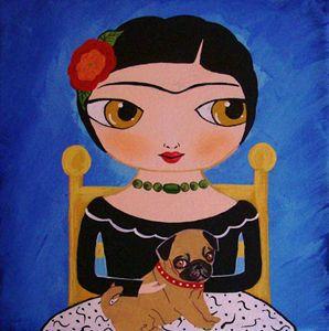 Frida with Pug