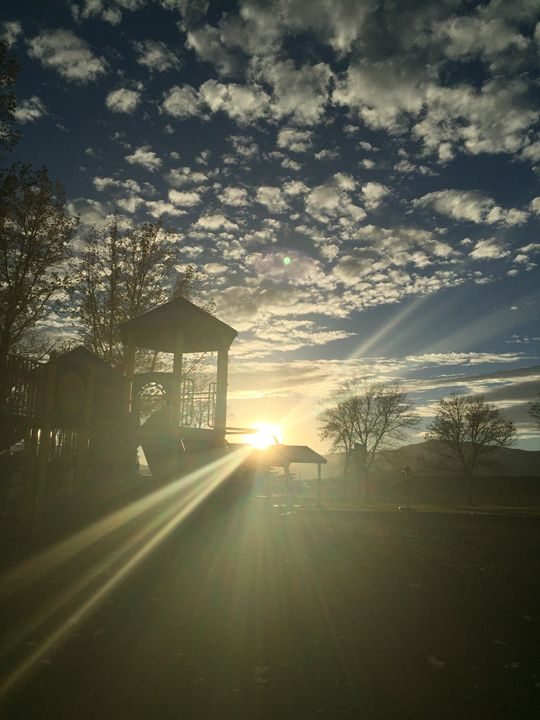 Playground Sunset - AlyssaArt