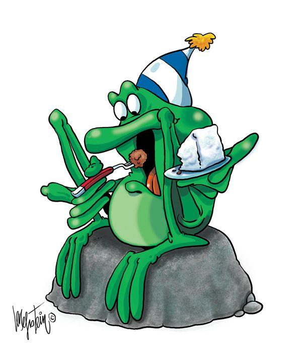Frog Eating Cake - Len Epstein