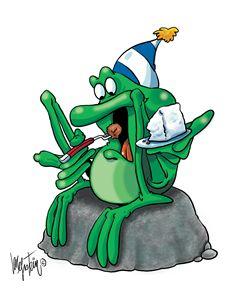 Frog Eating Cake