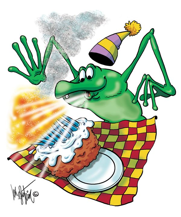 Frog Blowing Out Candles - Len Epstein