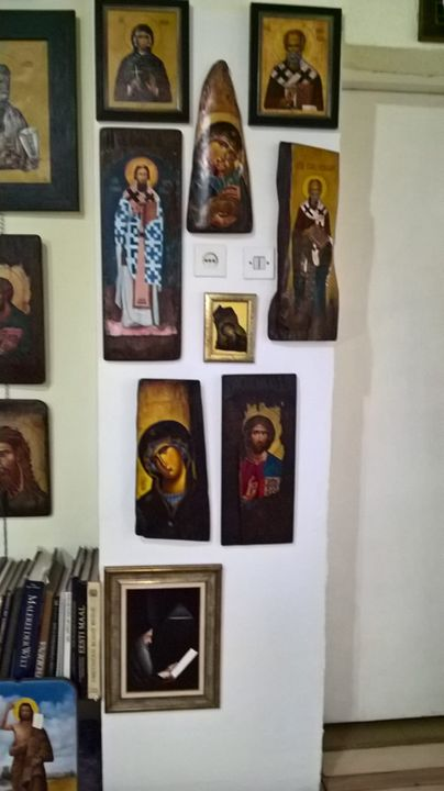Icon paintings on wood - Djordje Bujnovic