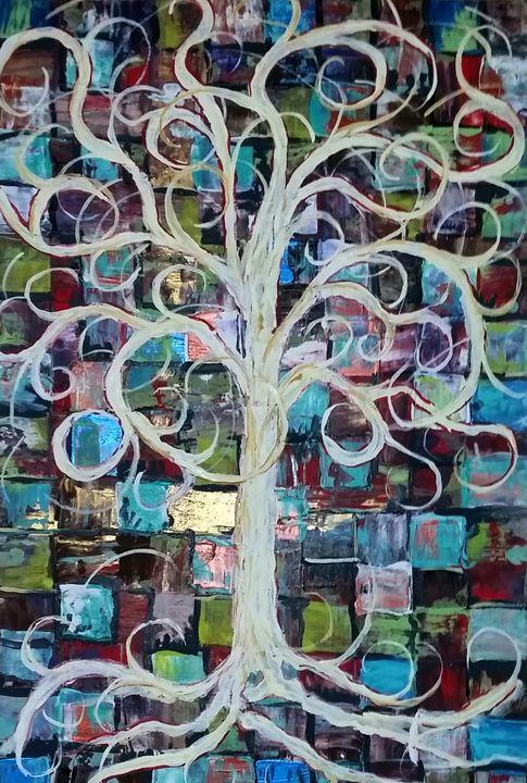 the mosaic tree 2 - Scott S Olson