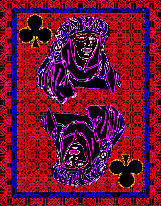 Queen of Clubs - Works by Digital Artist Ron Mock