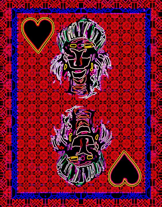 Queen of Hearts - Works by Digital Artist Ron Mock