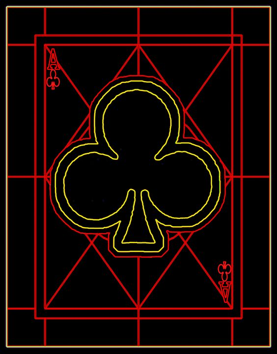 Ace of Clubs - Works by Digital Artist Ron Mock