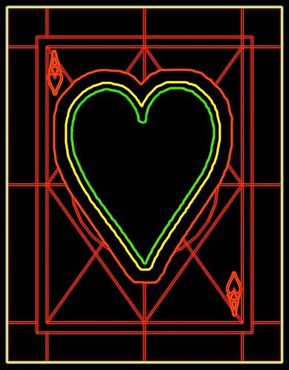 Ace of Hearts - Works by Digital Artist Ron Mock