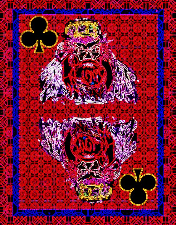 King of Clubs - Works by Digital Artist Ron Mock