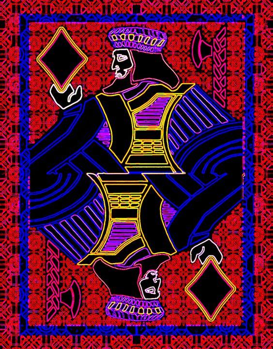 King of Diamonds - Works by Digital Artist Ron Mock