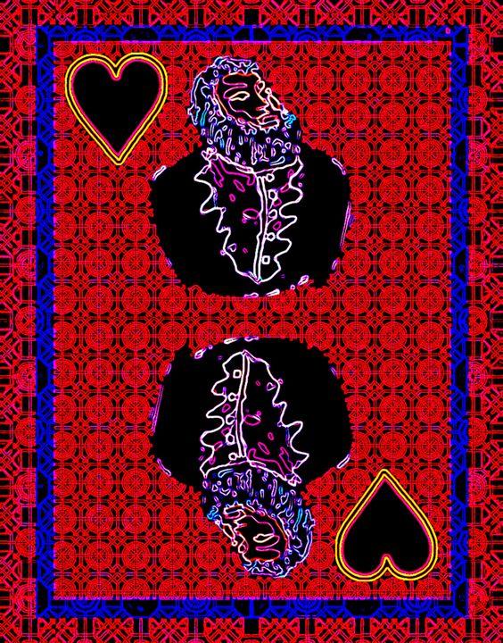 King of Hearts - Works by Digital Artist Ron Mock