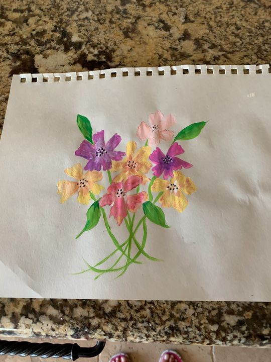 Bright flowers - Kathi Jacobs Fodor