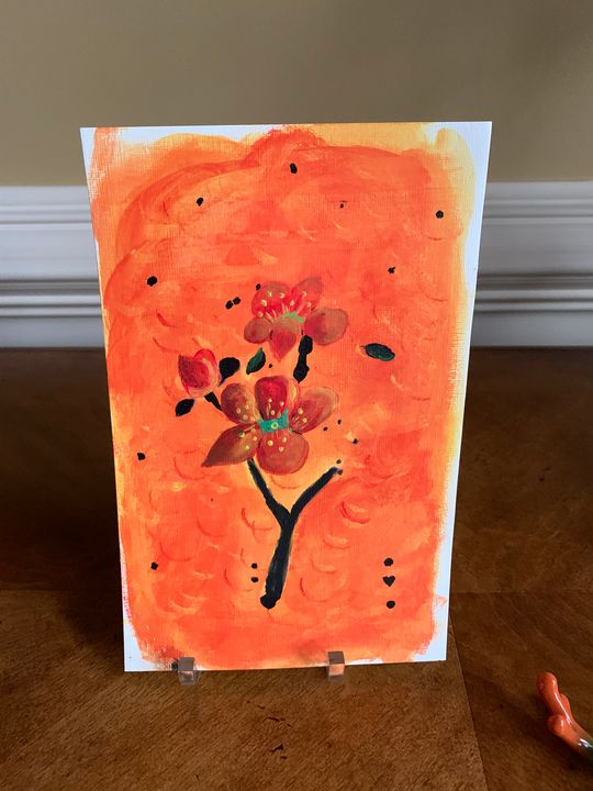 Orange flowers - Kathi Jacobs Fodor