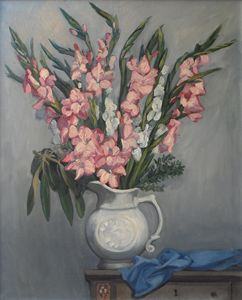 Pitcher With Gladiolas