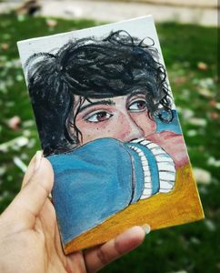 Small oil Painting of A boy
