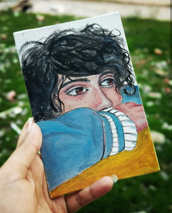 Small oil Painting of A boy - Art connection
