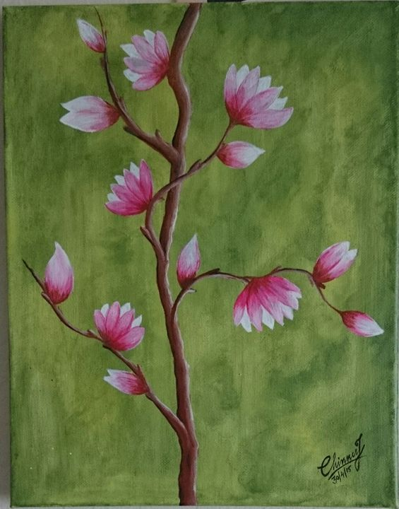 blossoms-acrylic painting - Chinnu