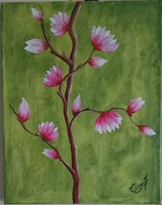 blossoms-acrylic painting