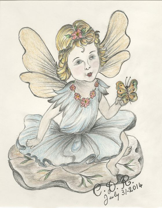 Angel with Butterfly - Caterina DeRosa Gallery