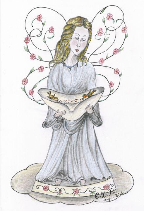 Angel with Birds - Caterina DeRosa Gallery
