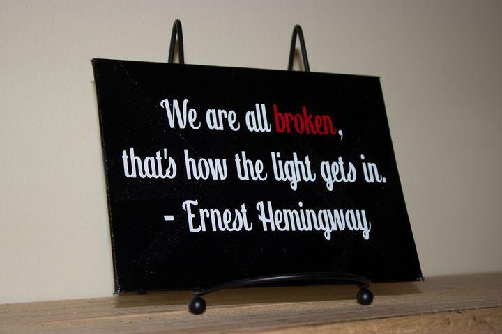 We are all broken - Sadistic Canvas