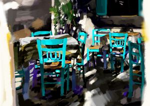 Restaurant Tables and Chairs, Greece