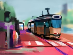 Tram in Brussels, Belgium - Andrew Storey