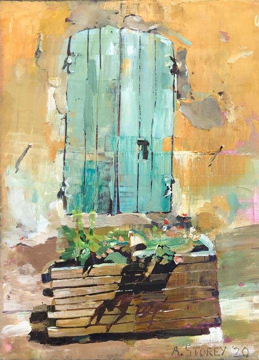 Shuttered Window in France - Andrew Storey