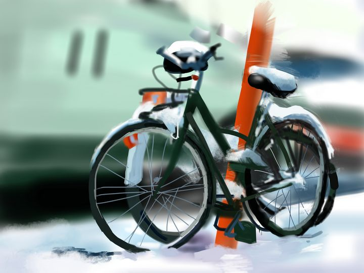 Bike in the Snow - Andrew Storey