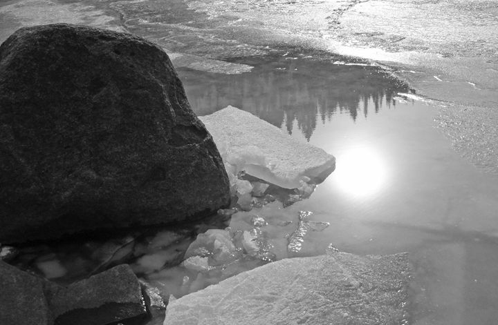 Ice Reflections - Art by Iain